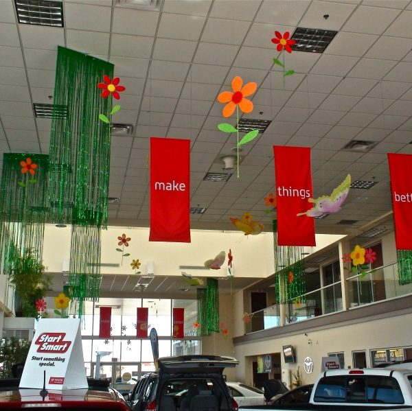 car showroom decorations